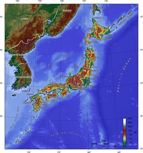 imagenes de japon wikipedia map of japan topographic map worldofmaps net online
