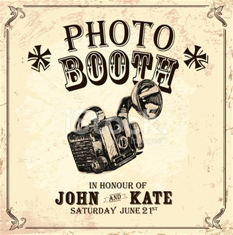 vintage photo booth layout vintage photo booth design template with vintage camera
