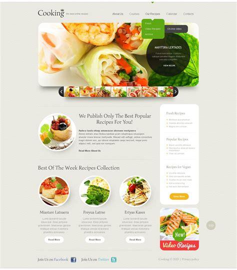 Food Drink Website Template 44199 Templates Com Food Template