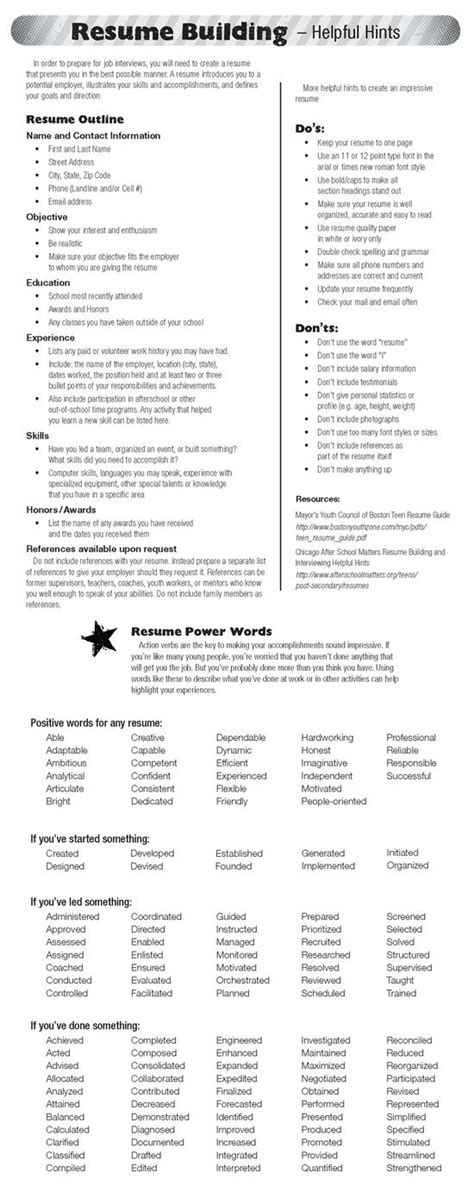 building resume tips check out today s resume building self personality