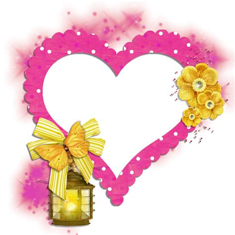 Ducky One Transparent Pink transparent frame pink with yellow butterfly flowers
