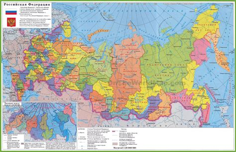 map us political russia political map