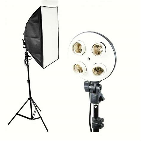 Softbox 50x70 dhanstore continuos light softbox set with boom arm