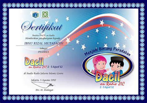 desain brosur islami desain sertifikat dacil on radio contoh undangan