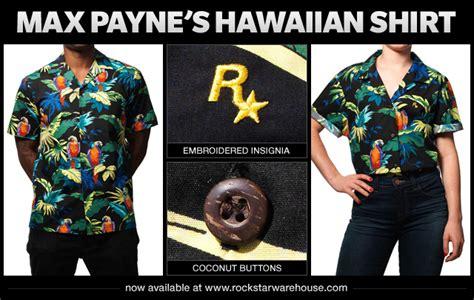 Rockstar Gta5 Logo Tshirt Mens max payne s signature hawaiian shirt is now available at