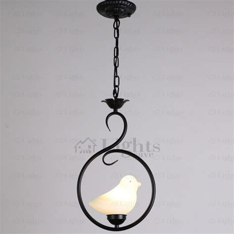 ceramic pendant lights ceramic bird shade black wrought iron pendant lights