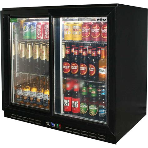 Sliding 2 Glass Door Commercial Back Bar Bar Fridge Energy Glass Door Fridge Australia