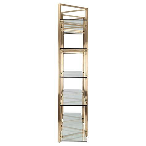 nuevo clear gold elton shelving unit hgsx188