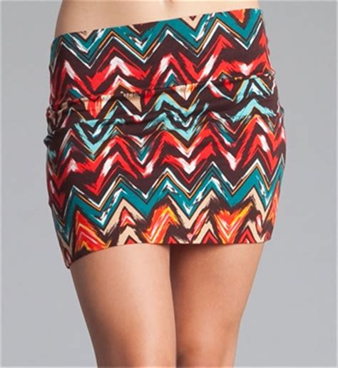 tribal patterned mini skirt zig zag tribal print mini skirt