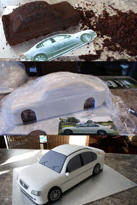 How To Make A 3d Car Out Of Paper - holden calais cake by verusca on deviantart