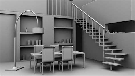 models  autodesk maya interior dining area