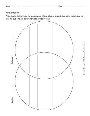 fillable venn diagram template venn diagram template forms fillable printable sles