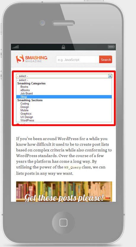 responsive design menu mobile responsive solutions to design menu navigation in low