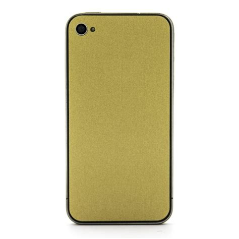 Iphone 6 Class Metal Gold 1 iphone 4 brushed gold skins wraps and cases from slickwraps