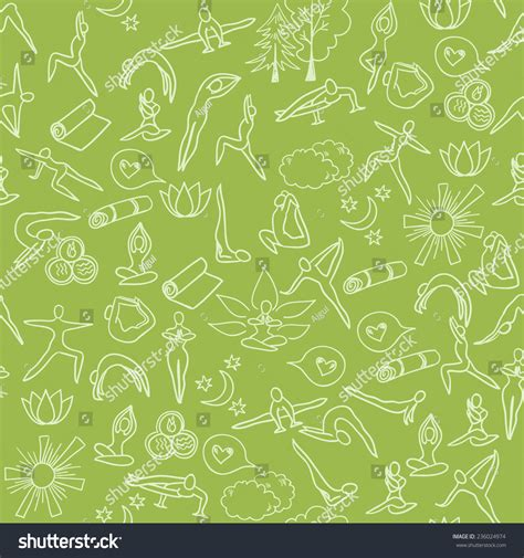 yoga pattern vector yoga background vector seamless pattern hand stock vector