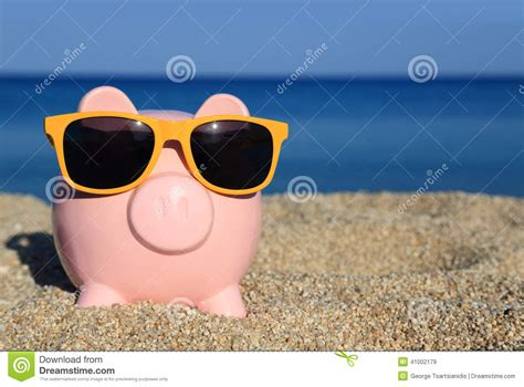 summer bank summer piggy bank stock photo image 41002179