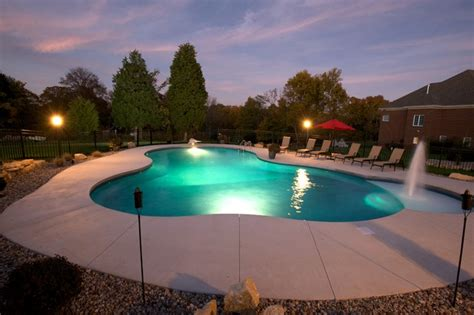 Backyard Pools Louisville Ky Free Form Vinyl Liner Swimming Pool Tropical Pool