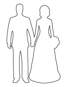 And Groom Outline Drawing by Printable And Groom Template
