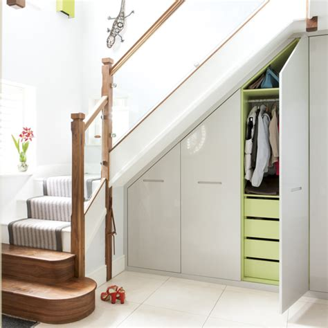 how to use spaces creative ways to use the space under the stairs ideal home