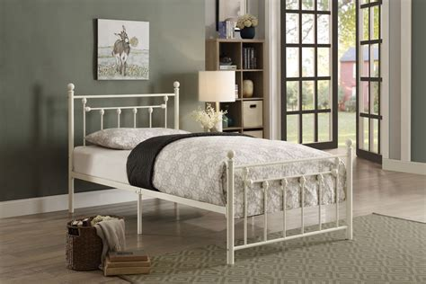 lia metal bed in white shop for affordable home furniture decor outdoors and more