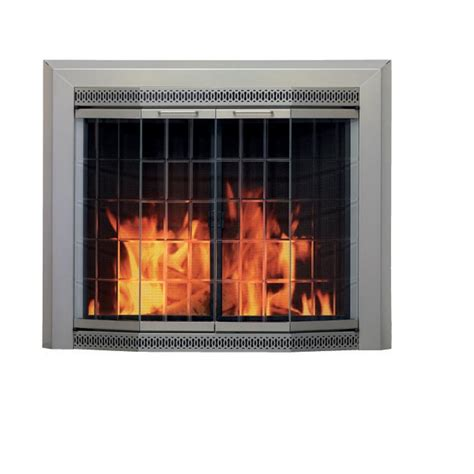 Glass Doors For Fireplaces by Beveled Glass Fireplace Screen Extraordinary
