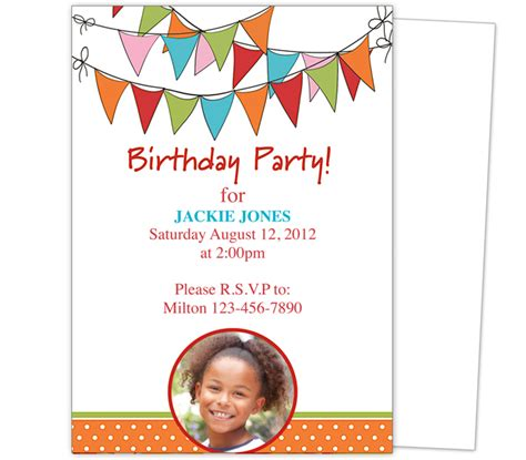 Ms Word Birthday Invitation Card Template by Birthday Invitations Template Theruntime