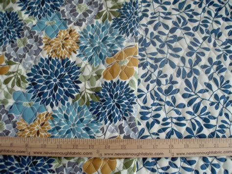Pre Quilted Material by Sided Pre Quilted Fabric Floral Leaves Quot Modern