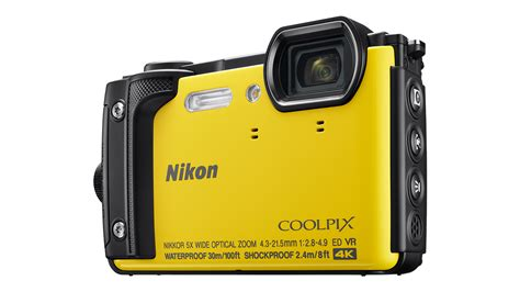 Nikon Coolpix W300 Yellow 4k Kamera Underwater best waterproof 2017 splash out on the best