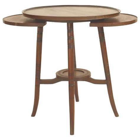 Japanese Side Table Anglo Japanese Walnut Side Table With Revolving Top For Sale At 1stdibs
