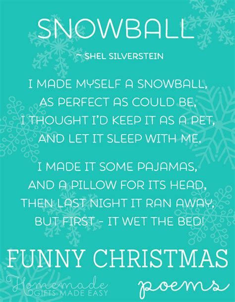 funny christmas poems short list of the best