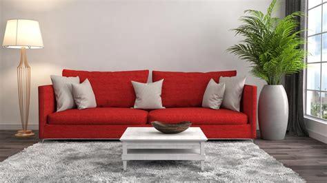 alfombras grises combinar sof 225 de color rojo alfombra y cojines grises