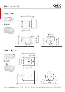 Bidet Sospeso Colibri 2 Scheda Tecnica by Big Wall Hung Wc White Shui Water Closet White Bathroom