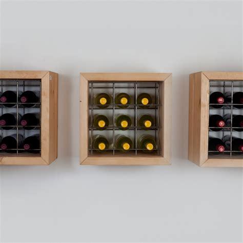 porta bottiglie da parete portabottiglie da parete in legno massello da 9 bottiglie