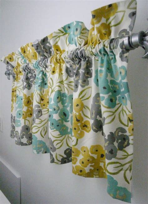 Grey And Yellow Valance Grey Yellow Valances And Turquoise On