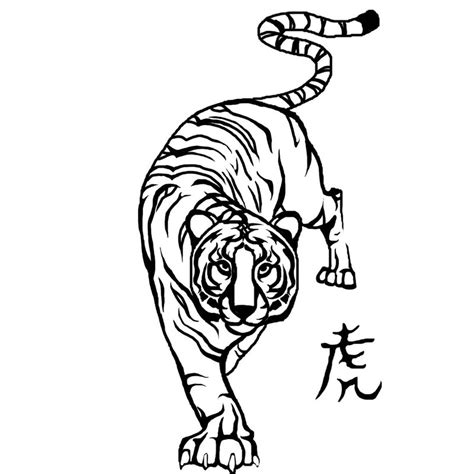 tiger tattoo outline designs tiger 2 by darkmoon17 by bigcats on deviantart