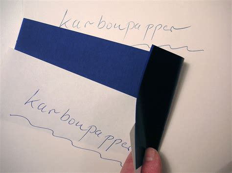 How To Make Carbon Paper - carbon copy