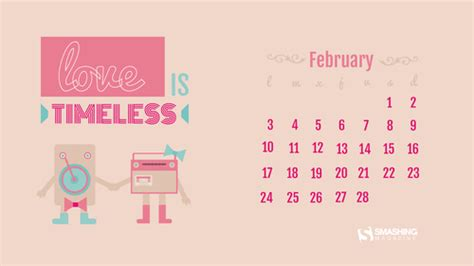 de febrero de 2014 fondos de pantalla con o sin el calendario del mes de