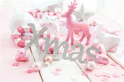 pink christmas decorations stock photo 169 barbaraneveu