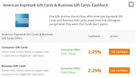Amex Gift Card Cash - ends today get 2 25 cash back on american express gift cards points miles martinis