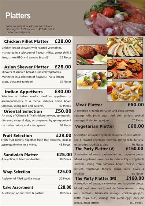 hedleys platter menus buffet catering sandwich bar