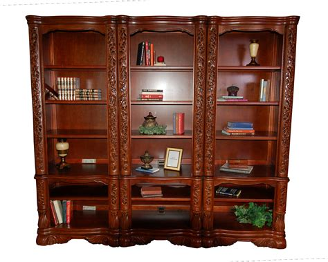 ornate 3pc office bookcase wall ebay