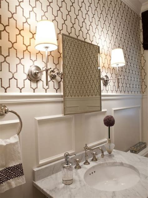 bathroom with wallpaper ideas best moroccan inspired wallpaper design ideas remodel