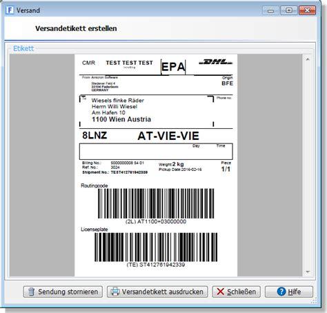 Dhl Etikett Drucken Online by Wie Kann Der Versandscheindruck Automatisiert Werden
