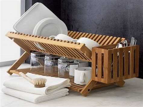 Wooden Washing Up Rack by Eight Wooden Dish Racks For A Classic Kitchen Decor Hometone