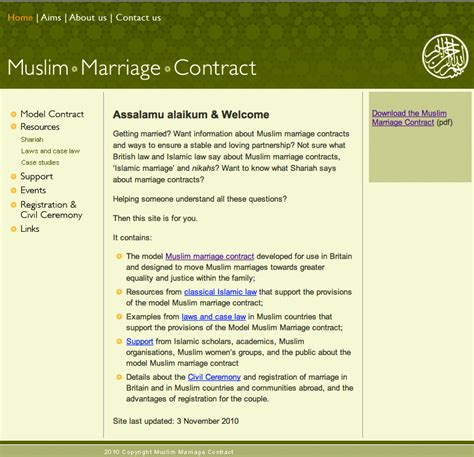 islamic marriage contract key contributions by cassandra balchin equality in the
