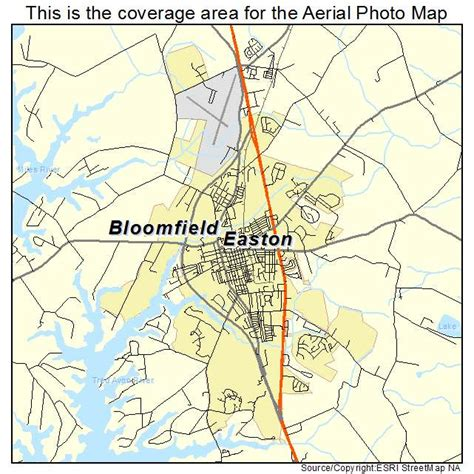easton maryland map aerial photography map of easton md maryland