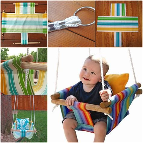 how to make a kids swing wonderful diy hammock type baby swing