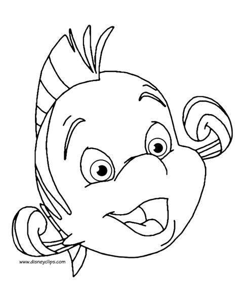 the little mermaid printable coloring pages 2 disney