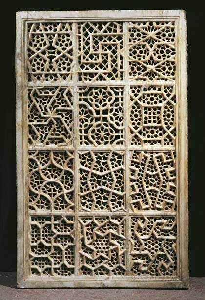 geometric jali pattern beautiful jali screen from agra india islamic geometric
