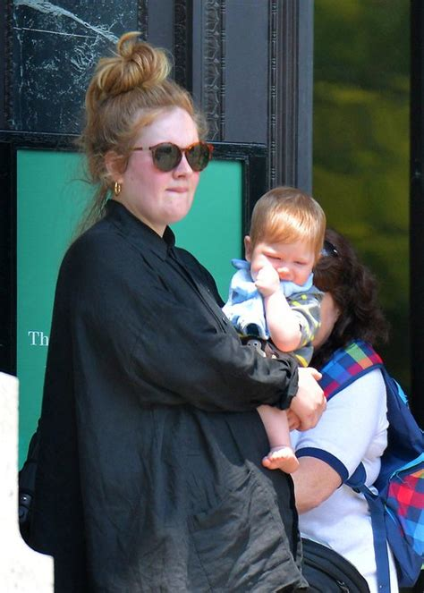 adele someone like you ex boyfriend name adele pictured out with baby boy angelo for first time in